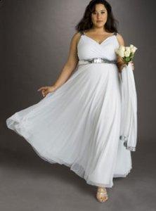 Невестам с проблемными бедрами: свадебное платье для полной девушки