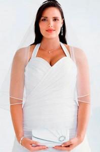 Невестам с большой грудью: платье для полной девушки