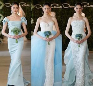 Цветные свадебные платья: модный тренд 2013