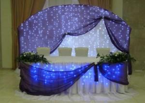 Как выполнить оформление зала на свадьбу своими руками