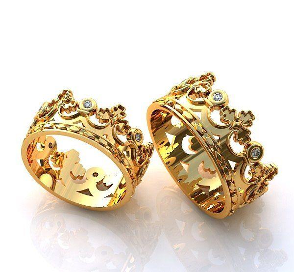 кольца с белого золота