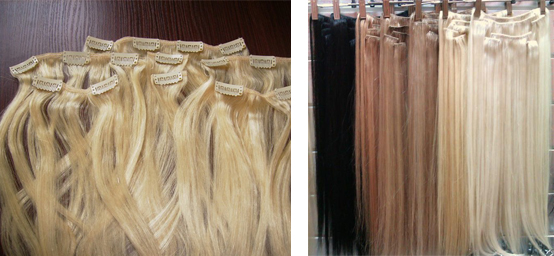 Купить волосы на заколках искусственные
