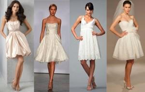 Короткие свадебные платья: какие платья в моде в 2013 году