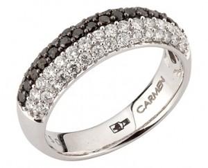 Обручальные кольца с черными бриллиантами - для современной невесты