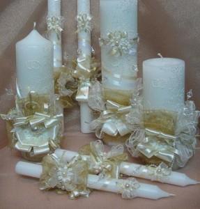 Свечи на свадьбу для романтичного настроения