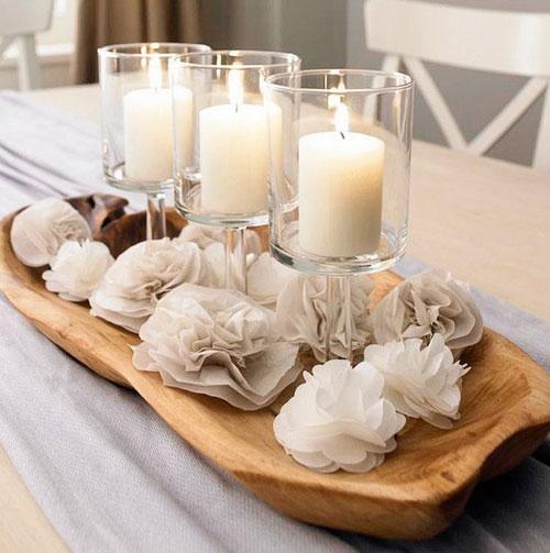 Свечи на столы своими руками
