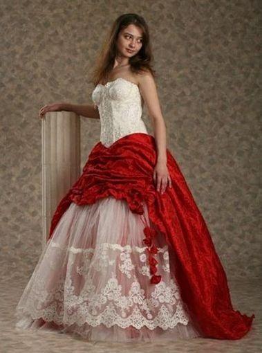 Бело красное платье свадебное платье
