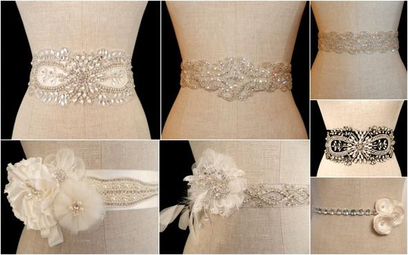 Пояса для платьев из камней