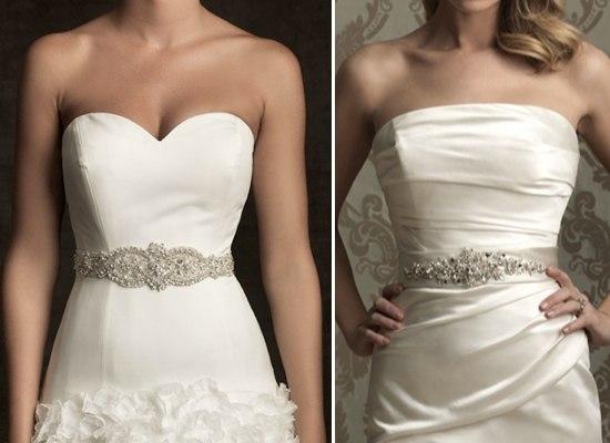 Пояса на свадебное платье своими руками
