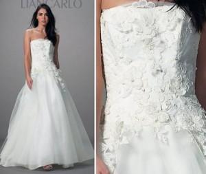 Лионское кружево- отличный вариант для украшения свадебного платья