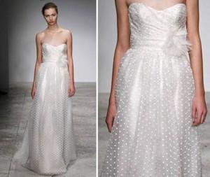 Пунктирное швейцарское кружево для свадебных платьев