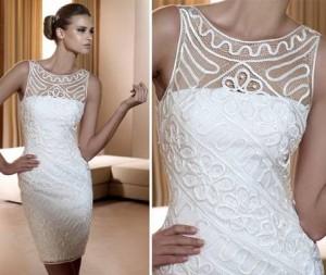 Ленточное кружево для свадебных платьев