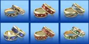 Кольца с эмалью- новая мода в ювелирном ремесле