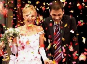 Пушка-конфетти на свадьбе - самый романтичный спецэффект
