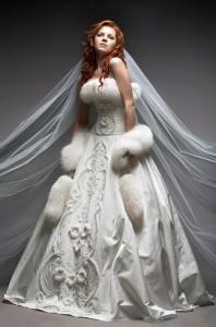 Свадебные платья зима: очень красивые