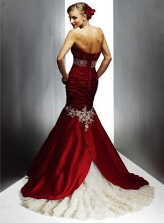 Выбираем красно-белое свадебное платье - apartamentgirl.ru