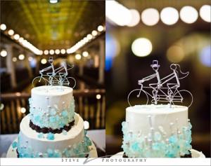 свадьбы в Самаре: летняя велосвадьба с праздничным свадебным тортом