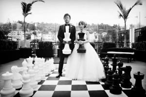необычная свадьба- в шахматном стиле