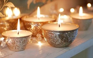 Декор свадебного зала свечами