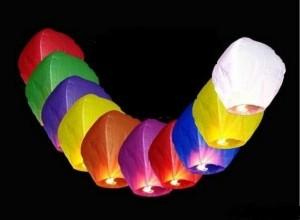 небесные фонарики: Пермь для свадебного торжества