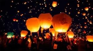 небесные фонарики: Пермь на свадьбу