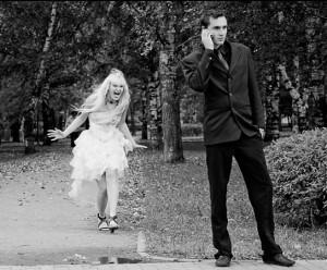 мужчина и ревнующая женщина