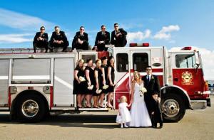 свадьба на пожарной машине