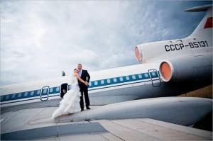 свадьба на самолёте
