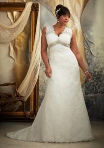 платье на полной невесте