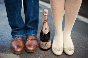 невеста в балетках