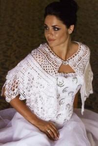 вязаная накидка для невесты