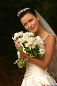 Свадебный букет из тюльпанов - отличное решение для невесты