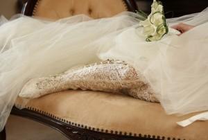 невеста, кружевные сапоги