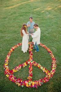 свадьба в стиле хиппи - чрезвычайно веселое событие