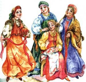 девичник перед свадьбой в древнерусском стиле