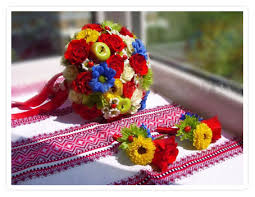 свадьба в украинском стиле- какой букет выбрать невесте
