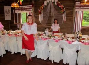 Оформление зала свадьбы в украинском стиле