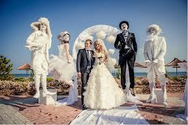 Шоу на свадьбу: живые скульптуры