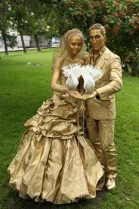 Живые скульптуры - отличное шоу на свадьбу