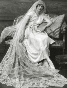 история свадебного платья в начале 20 века