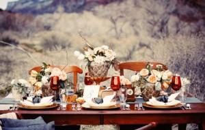 идея свадебного стола на природе