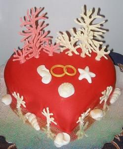торт на 35-летний юбилей свадьбы