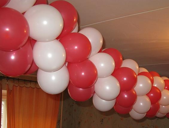 Арка из воздушных шаров своими руками без гелия 19