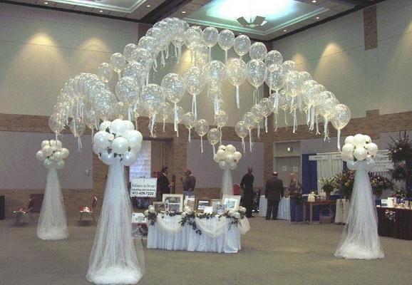 Арки свадебные из шаров