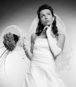 задумавшаяся невеста