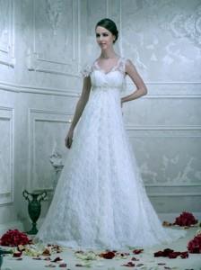 скромное свадебное платье