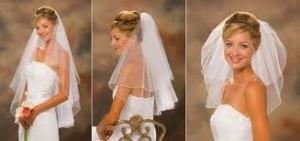 Свадебные прически с фатой: двухъярусной