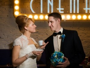жених и невеста в стиле тиффани