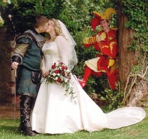 свадьба в средневековом стиле