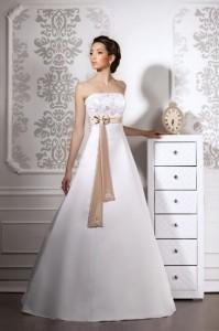свадебное платье в кофейном стиле